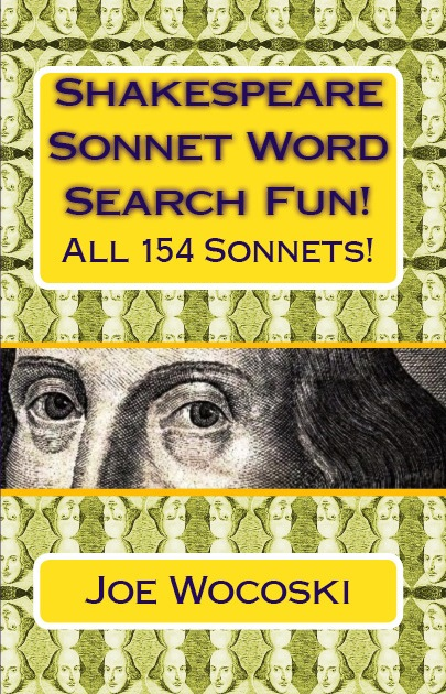 5 page Free Sample Sonnet Word Search Book by Joe Wocoski