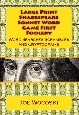 Large Print Shakespeare Sonnet Word Games First Foolery