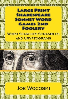 Large Print Shakespeare Sonnet Word Games Second Foolery