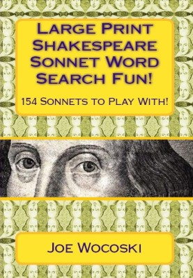 Large Print Shakespeare Sonnet Word Search Fun!