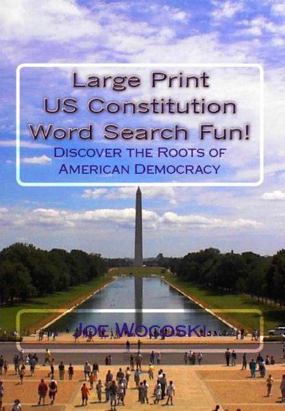 Large Print US Constitution Word Search Fun! Discover American Democracy