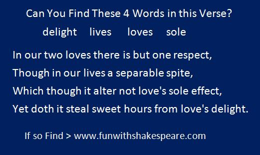 Shakespeare Sonnet Challenge by Joe Wocoski
